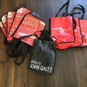 9  Lululemon Bags incl. 1 Who is John Galt?